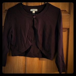 Chocolate Brown Bolero Sweater